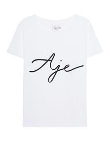 AJE Ribbon Label White