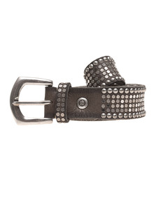 B.Belt Leather Studs Taupe