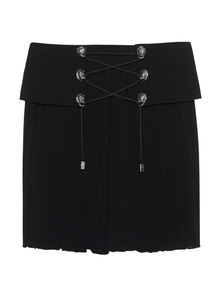 VERSUS VERSACE by ANTHONY VACCARELLO Jersey Pleat Lion Black