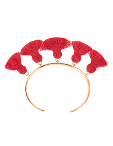 Marte Frisnes Raquel Tassel Bangle Red