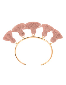 Marte Frisnes Raquel Tassel Bangle Salmon