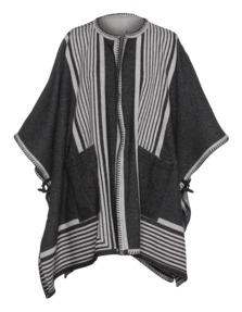 MiH JEANS Blanket Wrap Cream Stripe Grey