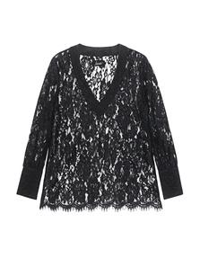 JADICTED Lace Shirt Black