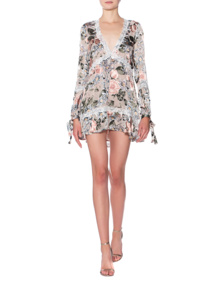 FOR LOVE AND LEMONS Luciana Swing Ivory Floral