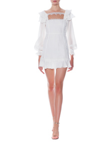 FOR LOVE AND LEMONS Crema Silk Linen White