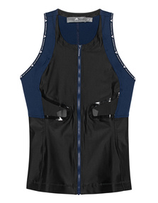 ADIDAS BY STELLA MCCARTNEY Active Zipper Front Black