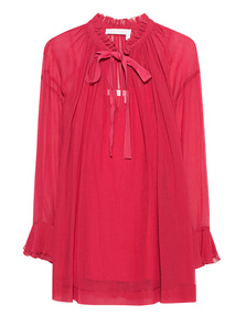 SEE BY CHLOÉ Raspberry Sorbet Bow Red