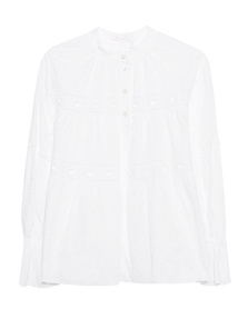 SEE BY CHLOÉ Crochet Cotton White