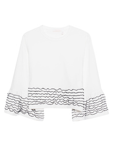 SEE BY CHLOÉ Black Seam Details White