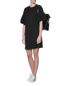 SEE BY CHLOÉ Cotton Trumpet Sleeves Black