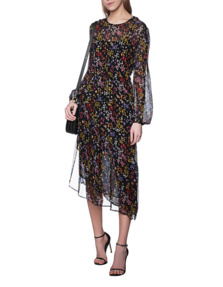 SEE BY CHLOÉ Midi Flower Glitter Multi Black