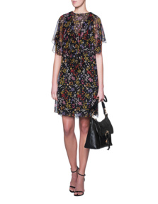 SEE BY CHLOÉ Glitter Flower Print Black