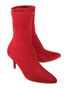 STUART WEITZMAN Cling Suede Red