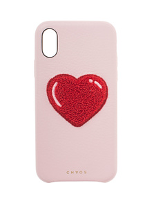 CHAOS iPhone X Heart Chenille Pink