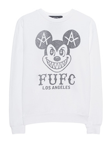 LOCAL AUTHORITY L.A. Mickey Crew Neck Washed White