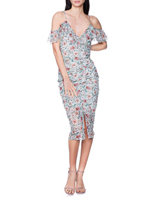 JADICTED Flower Print Volant Mint