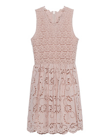JADICTED Lace Dress Beige