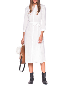 JADICTED Midi Chemise Dress White
