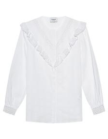Dondup Lace Ruffle Cotton White