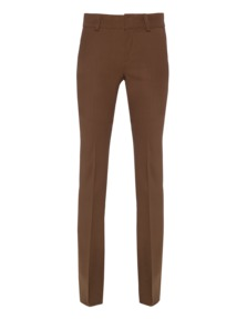 Dondup Pleat High Flare Brown
