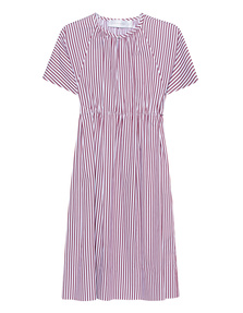 VICTORIA, VICTORIA BECKHAM Striped Shirting Burgundy