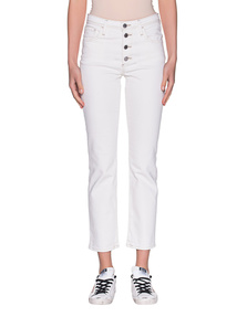 AG Jeans Isabelle Straight Off-White