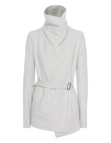 HELMUT LANG Sonar Wool Belted Felsic Grey