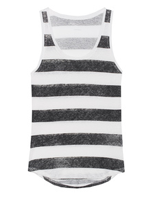 Majestic Filatures  Stripe Courte Black White