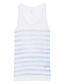 Majestic Filatures  Stripe Courte Blue White