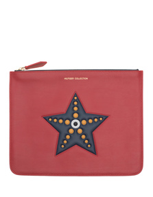 HILFIGER COLLECTION Star Fish Pouch Red