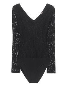 ELLA MOSS Lace Bodysuit Black