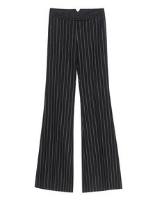Rachel Zoe Collection Wide Leg Stripes Black White