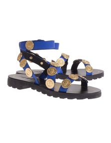 KENZO Leather Gold Coins Blue