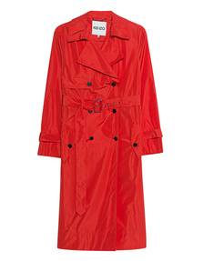 KENZO Trench Bright Red