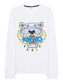 KENZO Tiger Embroidery Multi White