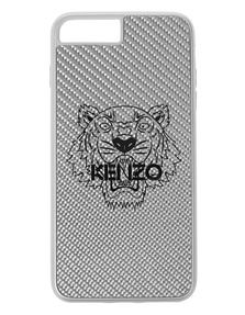 KENZO iPhone 7/8 Plus Carbon Fiber Silver
