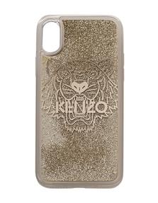 KENZO iPhone X Tiger Head Gold
