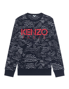 KENZO Logo Sweater Navy