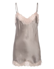 FALCON & BLOOM Romantic Cami Silk Grey Taupe
