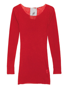 FRIENDLY HUNTING Pury Long Cre Neck Bright Red