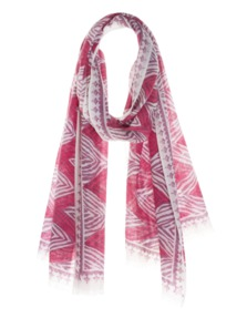 FRIENDLY HUNTING Fringe Mixed Zebra Pink