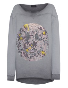 CAMOUFLAGE COUTURE STORK Crazy Smiley Grey