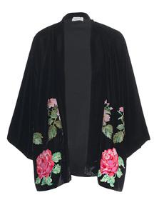 BLACK CORAL Kimono Velvet Black