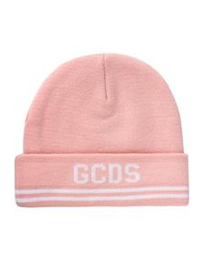 GCDS Logo Knit Stripe Pink