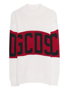 GCDS Logo Knit Off-White