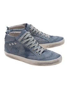 GOLDEN GOOSE Mid Star Blue Glitter