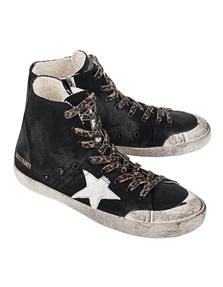 GOLDEN GOOSE DELUXE BRAND Francy Black Canvas Milk