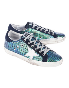 GOLDEN GOOSE DELUXE BRAND Superstar Blue Pailettes