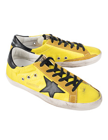 GOLDEN GOOSE DELUXE BRAND Superstar Lemon Nylon Black Star
