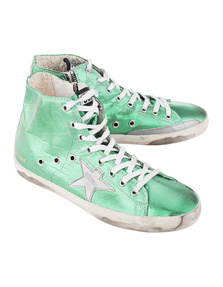 GOLDEN GOOSE DELUXE BRAND Francy Green Silver Star
